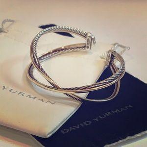 David Yurman Jewelry - David Yurman 18K Gold Sterling Crossover Bracelet