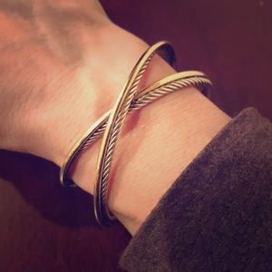 David Yurman Jewelry - David Yurman 18K Gold 925 Crossover Bracelet