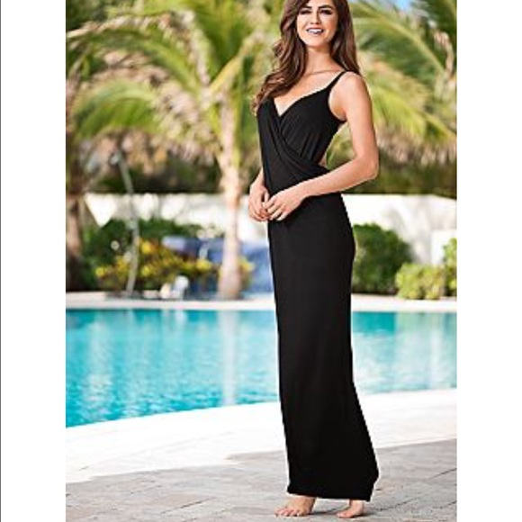53bde3679 Open back swim cover Up maxi Wrap dress. M_588cd5c2f09282345a011423