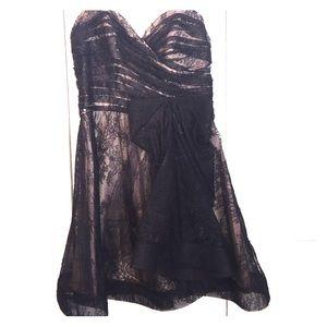 ABS black lace cocktail dress