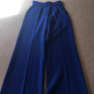 Royal blue stretch bend high waist pants