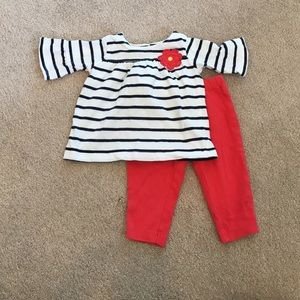 Carter's Other - Carter's Matching Striped Baby Girl Set - 6 mo