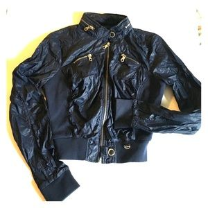 Guess Jackets & Blazers - Guess Navy Water Resistant Bomber Jacket