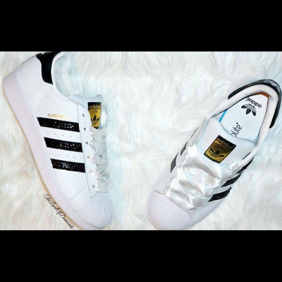 a1d9238e483 Adidas Shoes | Classic Adorned With Swarovski Crystals | Poshmark