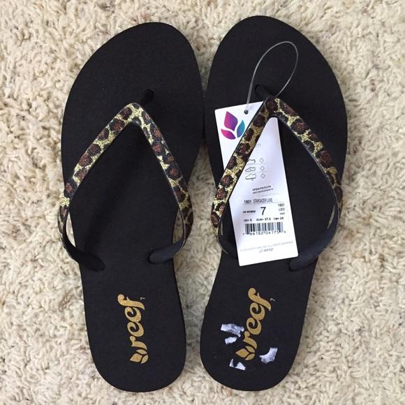 Reef Shoes | Leopard Print Reef Sandals