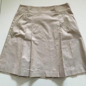 J. Crew Dresses & Skirts - ‼️REDUCED‼️JCrew Khaki Chino Pleated Skirt