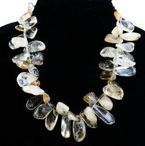 Jewelry - Citrine fringe beaded necklace.