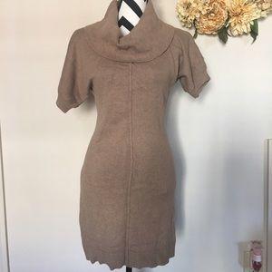 BR rabbit hair sweater dress