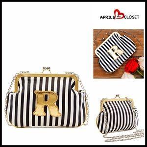 Melie Bianco Handbags - ❗1-HOUR SALE❗MINI CROSSBODY Initial 'R' Clutch