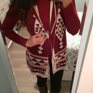 Hippie Rose Jackets & Blazers - 👩🏻Hippie Rose burgundy sweater vest M euc