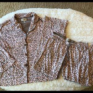 PJ Salvage Other - PJ Salvage Pink Leopard Pajamas