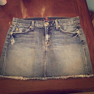 7 For All Mankind mini jean skirt size 28