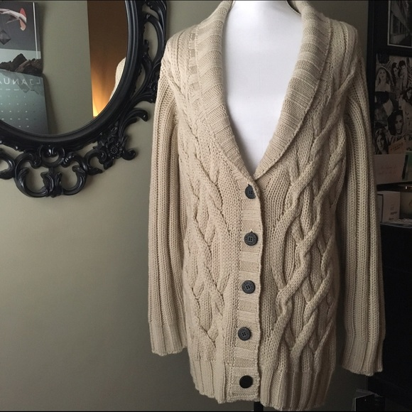 Ugg Margie Cable Knit Shawl Collar Cardigan 6df08cc79