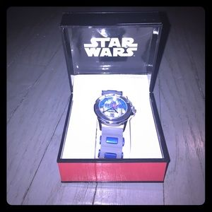 Star Wars Other - Star Wars R2D2 gray & blue rubber band watch
