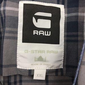 G-Star Shirts - G-STAR RAW Grey and Blue Plaid Button Down