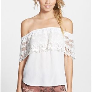 Socialite White Off the Shoulder Top