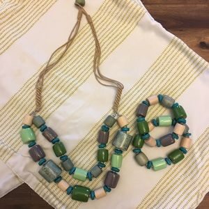 Tropical vibes  Necklace and bracelet set