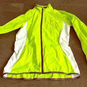 Salomon Jackets & Blazers - Salon on lime green jacket with white panels.