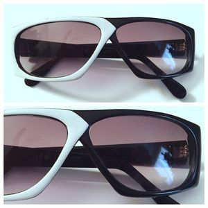 Vintage 1980's New Wave Two Tone Sunglasses