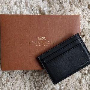 Coach Other - Coach money clip card case/ black leather