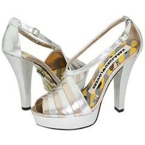 Harajuku Lovers Shoes - Harajuku Lovers silver and gold heels