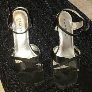 Rampage Shoes - MAY SALE Strappy Black Heels