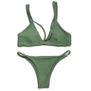 triangl swimwear Other - strappy army green cheeky brazilian bikini