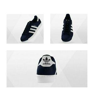 Adidas Shoes - Adidas Superstar Navy Custom Sneakers Women's