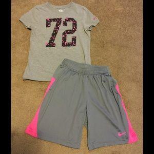 Nike Other - Nike The Nike Tee Shirt and Basketball Shorts Set