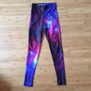 Blackmilk Pants - Black Milk Purple Galaxy Leggings