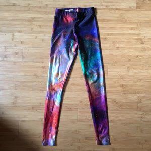 Blackmilk Pants - Black Milk Rainbow Galaxy Leggings
