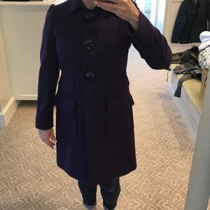 RED Valentino Jackets & Blazers - Red Valentino purple coat