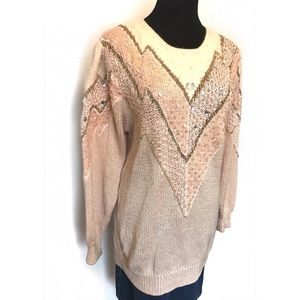Vintage Sweaters - Beautiful blush vintage mohair sweater