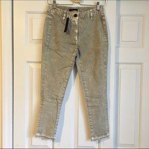 Theory High Waist Gray Wash Jeans