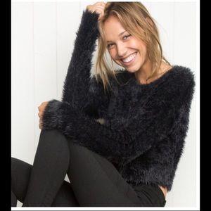Brandy Melville black mohair sweater