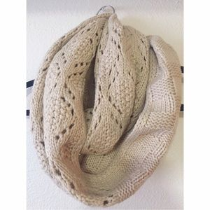 Simonetta Accessories - Tan Infinity Scarf