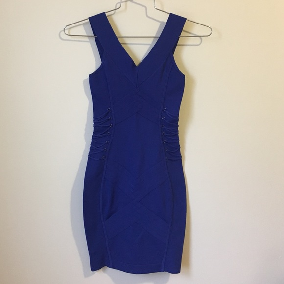 d9c531c552 Guess by Marciano Dresses   Skirts - Guess by Marciano bandage royal blue  dress size XS
