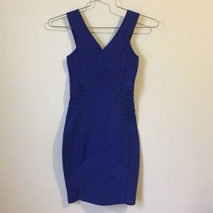Guess by Marciano bandage royal blue dress size XS