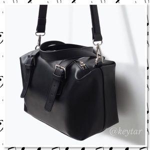 ZARA TRF Bowling Bag Vegan Leather Purse