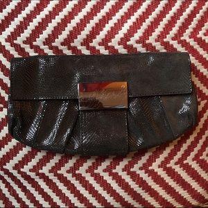 Kooba Handbags - Kooba black metallic leather clutch