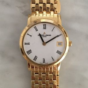 Jacques Lemans Accessories - NEW Jacques Lemans Swiss made gold watch