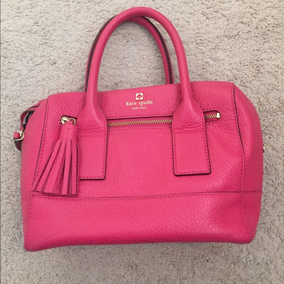 67% off kate spade Handbags - Kate Spade hot pink handbag with ...