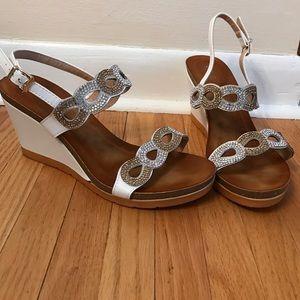 Patrizia Pepe Shoes - Rhinestone detailed wedge sandals.