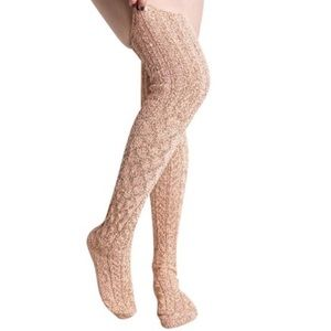 Peony and Moss Accessories - Thigh High Socks in Tangelo