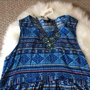 Forever 21 Dresses - Forever 21 Blue Tribal Mini Dress - SZ: Small