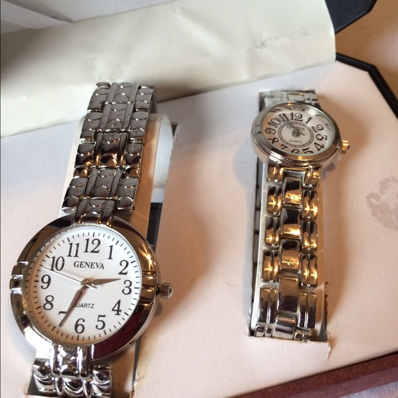 His And Hers Watch Sets >> Geneva Quartz His And Hers Watch Sets