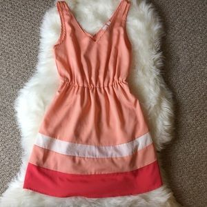 Adorable Pink and White Mini Dress - SZ: Small