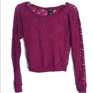 Rue21 Tops - Laced Long Sleeve Shirt