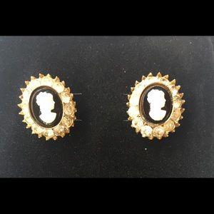 Vintage Faux Cameo Earrings