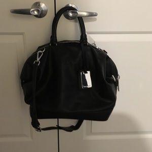 Zara Black Bowling Bag with Strap